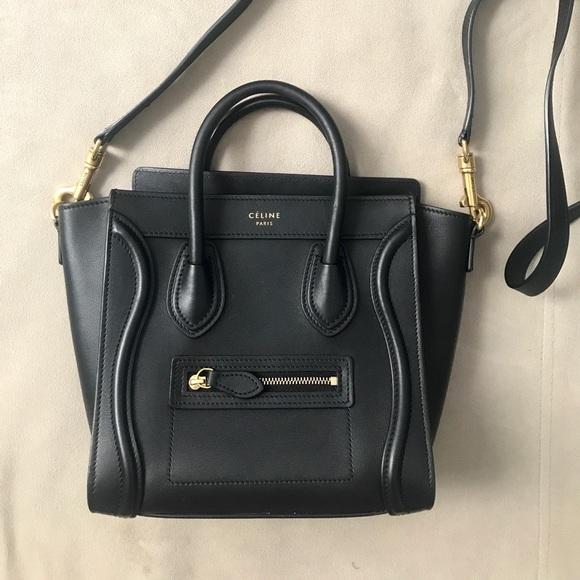 5f9a7d4da3e3 Celine Handbags - Celine nano crossbody luggage handbag in smooth